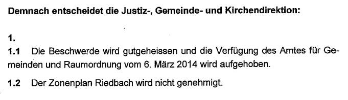 Die Verfügung der JGK (Ausschnitt).